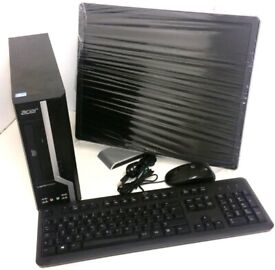 "Acer Veriton X2611G Intel Core i3-3240 3rd Gen 3.40GHz 8GB Ram 500GB HDD 19"" Monitor Keyboard Mouse"