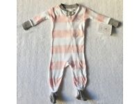 BNWT Burts Bees Baby Girl Sleepsuit 3 - 6 Months