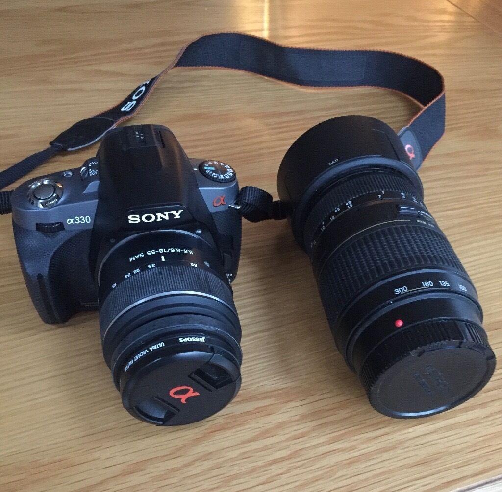 Sony Alpha A330 10.2MP DSLR Camera (incl 18-55mm Lens & Tamron ...