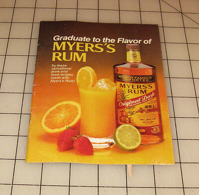 Vintage Graduate to the Flavor of MYER'S RUM Drink Recipe Booklet](Rum Drink Recipe)