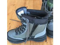 ORVIS Wading Boots Size 6 : River Guard Side-Zip Boots in Grey with EcoTraX Soles