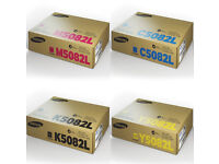 High Capacity 4 Colour Samsung 5082L Toner Cartridge Multipack (CLT-K5082L/C5082L/M5082L/Y5082L)