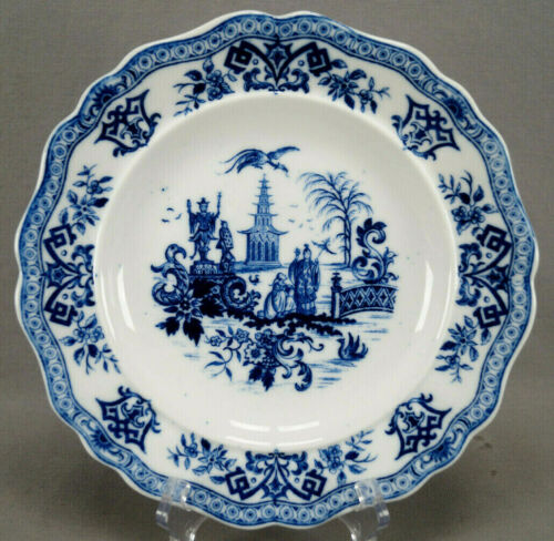Schlaggenwald Blue & White Chinoiserie Porcelain Dinner Plate Circa 1847-1867 A