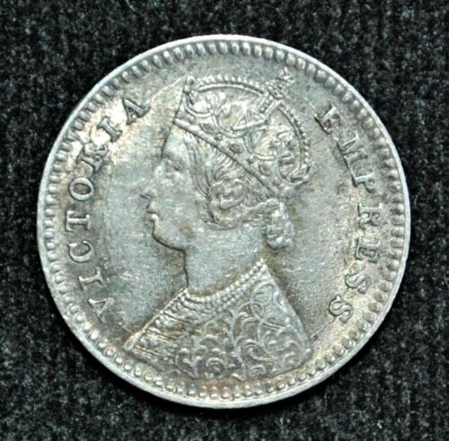 1881 (c) India, British, Two Annas, silver