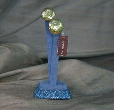 IPPOLITA GLAMAZON .9 INCH 18K GOLD MINI DOT CLIP-ON EARRINGS