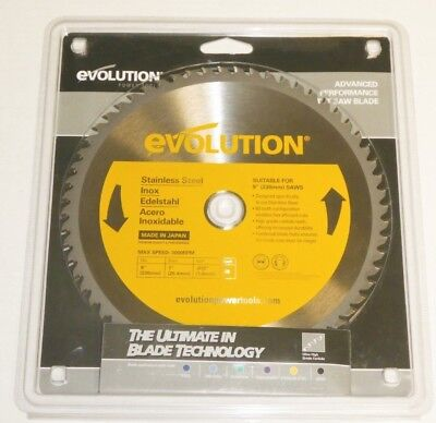 Evolution 9 230mm Tct Saw Blade 60t Carbide Teeth 230bladessn Stainless Steel