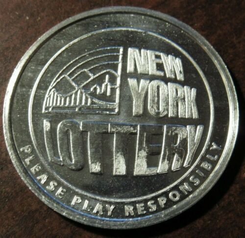 Vintage New York State Lottery Lucky Scratcher Token - NY