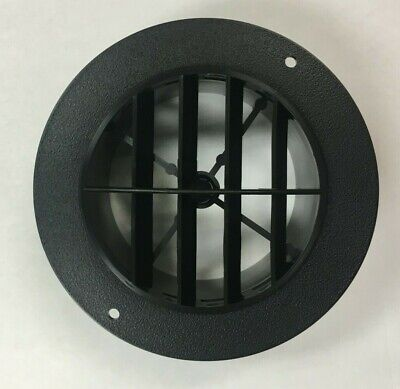 4 Black Round Rotaire 5 12 Face Grille Heat Ac Air Duct Outlet Vent 3840bk Rv