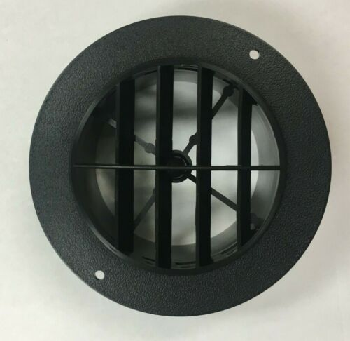 """4"""" BLACK Round Rotaire 5 1/2 Face Grille Heat AC Air Duct Outlet Vent 3840BK RV"""