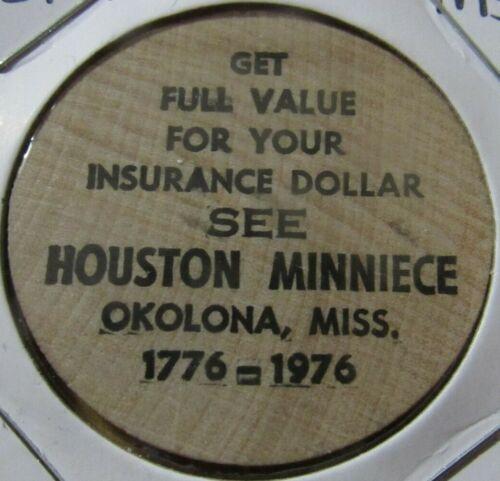 Vintage Houston Minniece Okolona, MS Wooden Nickel - Token Mississippi