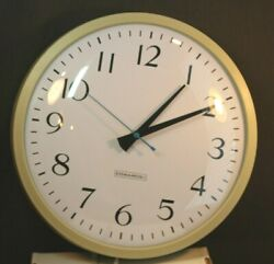Edwards Electric Wall Clock  13 Diameter  School Industrial  Made in USA