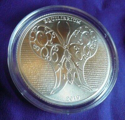 2019 Tokelau Equilibrium Yin Yang Butterfly 1 oz .999 Silver BU Round Coin