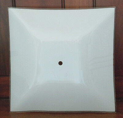 NEW White Frosted Glass Square Ceiling Light Cover Shade Fixture 11.75