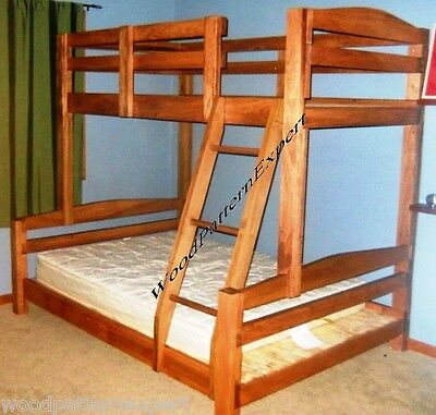 BUNK BED Paper Patterns BUILD KING OVER QUEEN OVER FULL OVER TWIN Easy DIY -