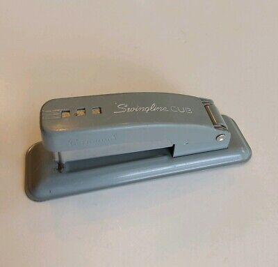 Vintage Gray Swingline Cub Small Stapler For Desk Or Office