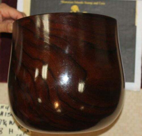 Hawaiian Koa Calabash Bowl circa 1890 or earlier 4