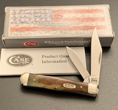 2000 CASE XX 6225 1/2 GREEN/BROWN APPALOOSA BONE MINI COKE BOTTLE POCKET KNIFE