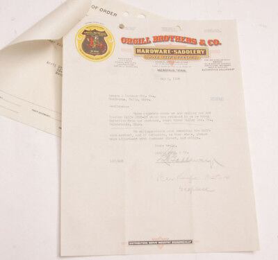 1934 Lamson Goodnow Orgill Bros Co Hardware Saddlery Memphis Tn Ephemera L167g