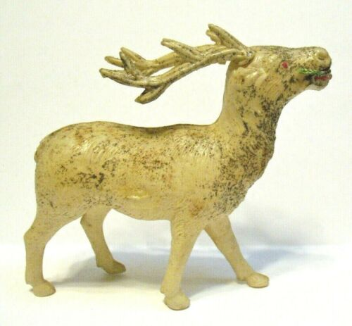 VINTAGE CELLULOID REINDEER JAPAN 3 1/2 X 3 INCHES #2
