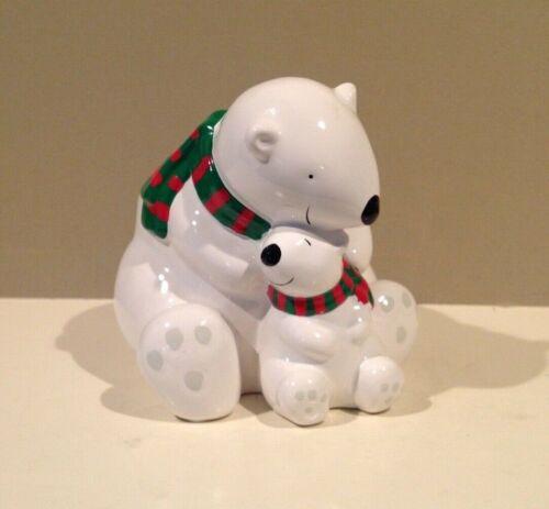 Teleflora Coca Cola Advertising Polar Bear & Cub Planter
