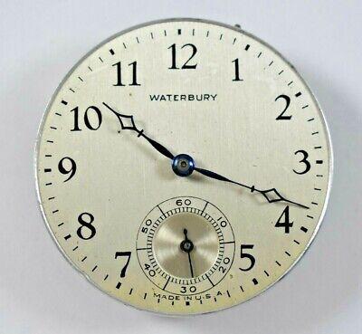Vintage Waterbury Ingersoll Watch Co 39.50mm Pocket Watch Movement lot.o