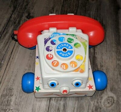 Classic Chatter Telephone - Vintage 1961 Fisher-Price Classic Chatter Telephone #747 Disney Pixar Toy Story