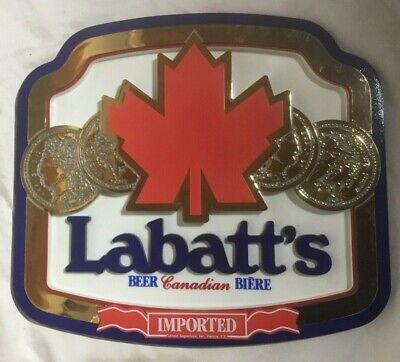 Vintage LABATT'S Beer Advertising Sign - Excellent Condition!