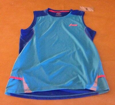 NWT Asics Tiger Mens Fugi Blue Athletic Shirt Work Out Tank NEW Size Small