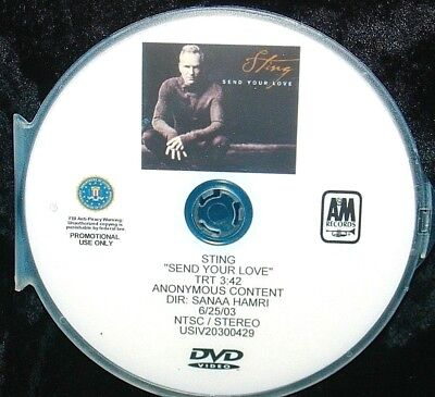 STING Send Your Love Promotional Record Company Music Video DVD Single