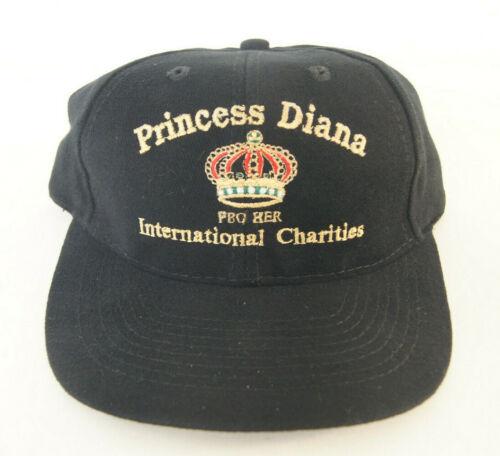 Princess Diana International Charities FBO HER Black Adjustable Hat Rare - New