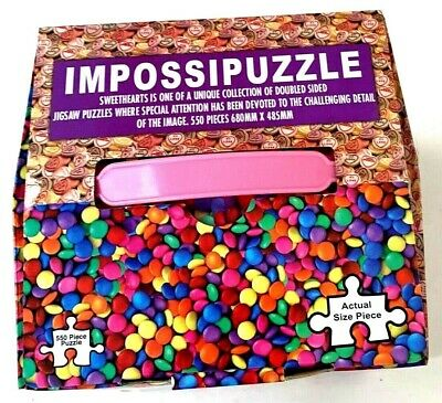Impossipuzzle Sweethearts Jigsaw Puzzle Double Sided Candy 550 Piece Funtime
