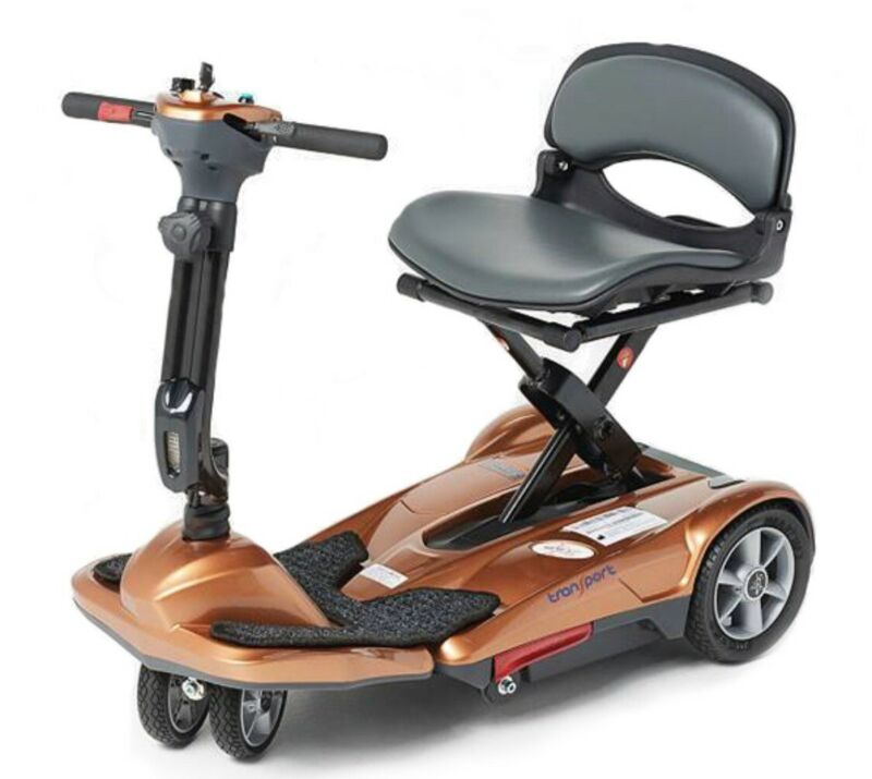 Ev Rider Easy Foldable Mobility Scooter Transport M Copper