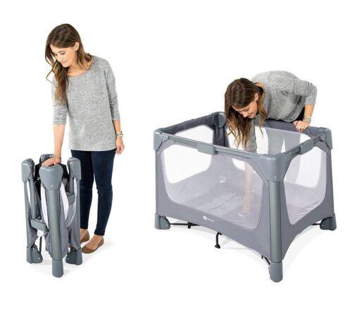 4moms breeze GO portable travel playard - easy one push open