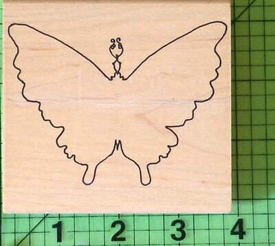 Outline Butterfly Rubber Stamp By Limited Edition  - $8.95