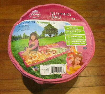 Disney Childrens Girls Sleeping Bag Princess Belle Sleeping Beauty Cinderella ()