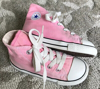 Converse Chuck Taylor All Star Toddler Girl's 10 Pink Ox High Top Sneaker Shoes