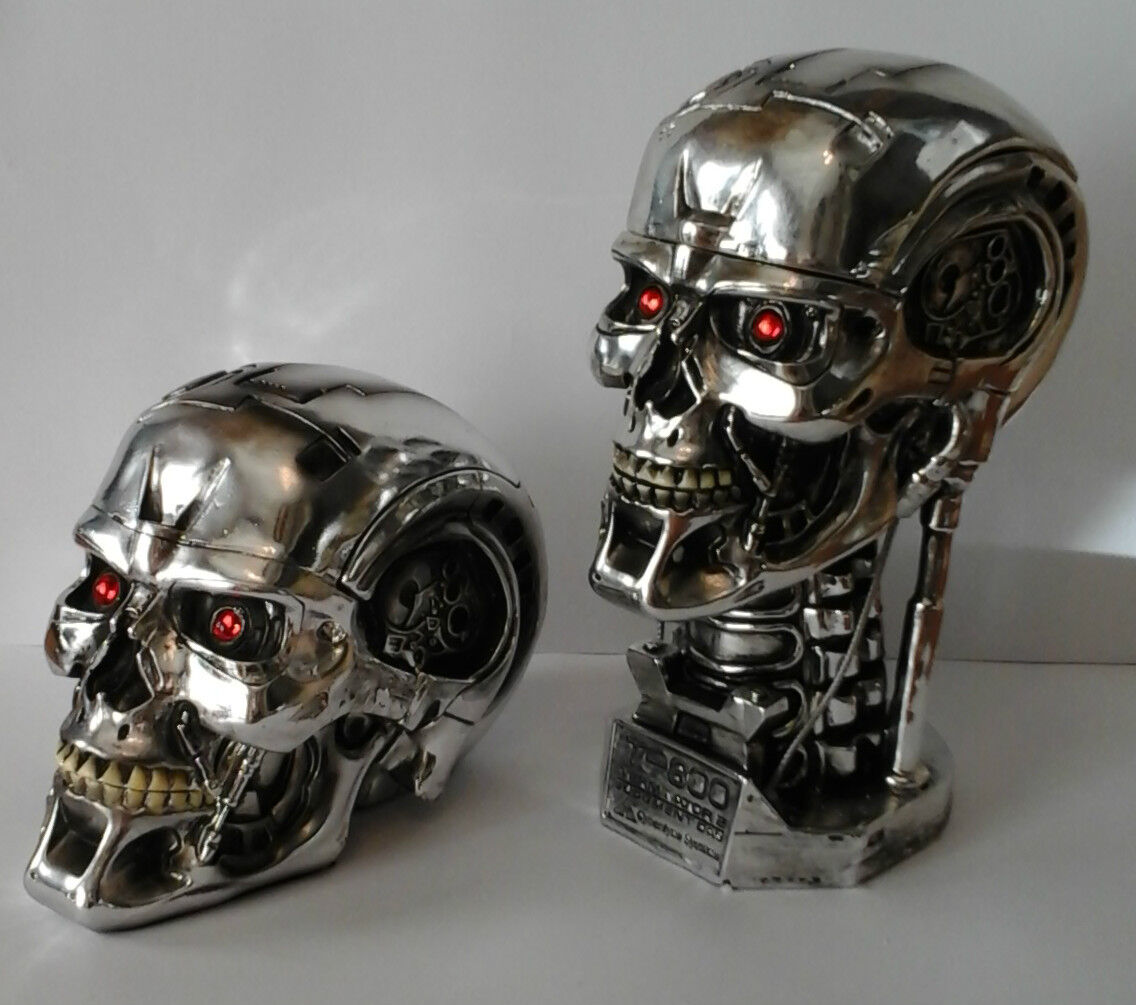 T-800 Terminator 2 head silver skull Movie Collectable Judgement Day Gift