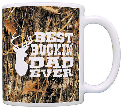 Hunting Camo Best Buckin' Dad Ever Coffee Mug Tea