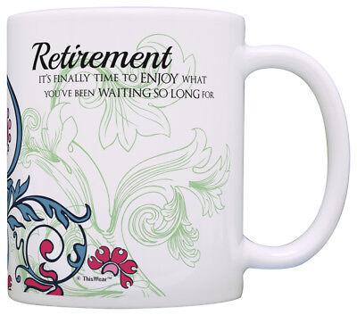 (Retirement Gift Ideas Retirement Finally Time to Enjoy Coffee Mug Tea Cup)
