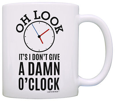 (Retirement Gifts Coworkers Oh Look Clock Expletive Retired Coffee Mug Tea Cup)