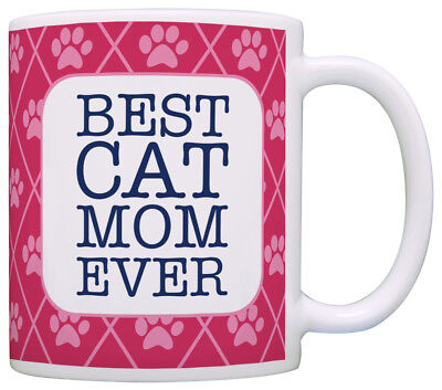 Cat Gifts for Women Best Cat Mom Ever Cat Lover Gifts for Coffee Mug Tea