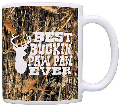 Grandpa Gifts Hunting Camo Best Buckin' Paw Paw Ever Coffee Mug Tea