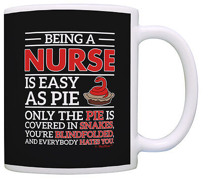 Nurses Day Gifts (Mothers Day Gifts Being a Nurse is Easy as Pie Coffee Mug Tea)