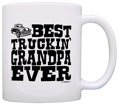 Car Guy Gifts Best Truckin' Grandpa Ever Pickup Truck Coffee Mug Tea