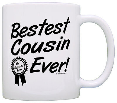 Birthday Gift for Cousin Bestest Best Cousin Ever Award Coffee Mug Tea