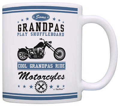 Grandpa Gifts Cool Grandpas Ride Motorcycles Biker Father Coffee Mug Tea Cup ()
