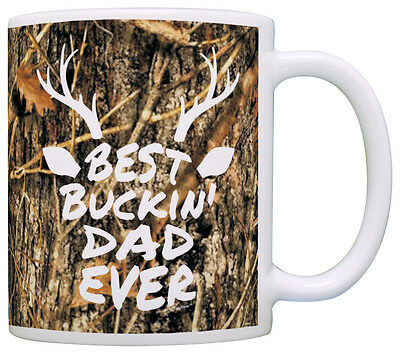 Father's Day Gift Best Buckin' Dad Ever Deer Head Coffee Mug Tea