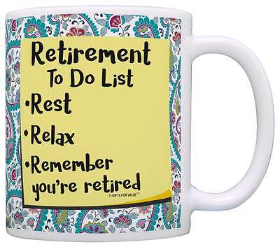 (Retirement Gifts for Women Retirement To Do List Coffee Mug Tea Cup)