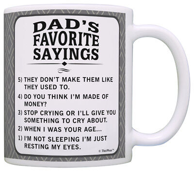 Fathers Day Gifts for Dad Dad's Favorite Sayings Perfect Cof