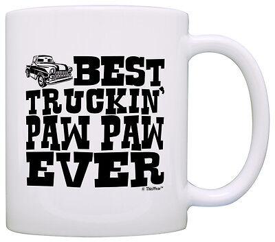 Grandpa Gifts Best Truckin Paw Paw Ever Pickup Truck Coffee Mug Tea Cup